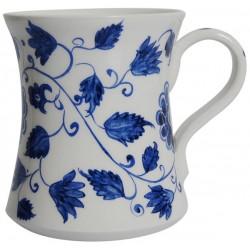 Mavi Çiçek Desenli Seramik Rumi Kupa
