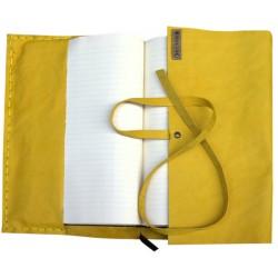 Deri Kitap Kılıfı - Sarı