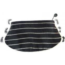 Kutnu Cüzdan - Siyah İğne Oyalı Oval