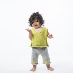Yeşil Örgü Çocuk Pantalonu
