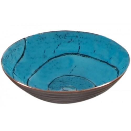 Turquoise Enamel Pot - 2
