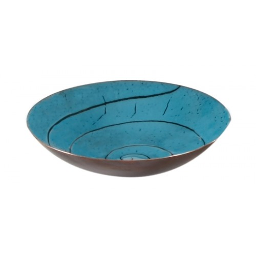 Turquoise Enamel Pot - 3