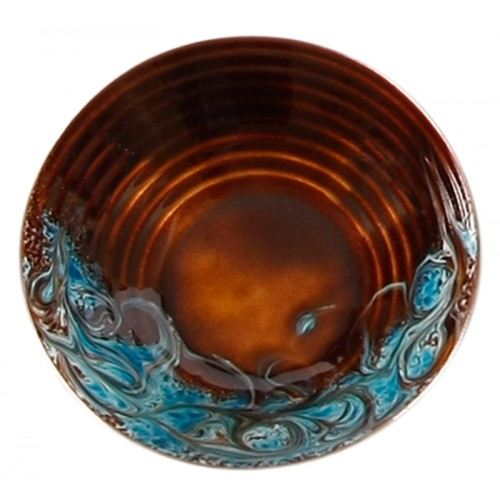 Bronze Blue Enamel Pot - 3