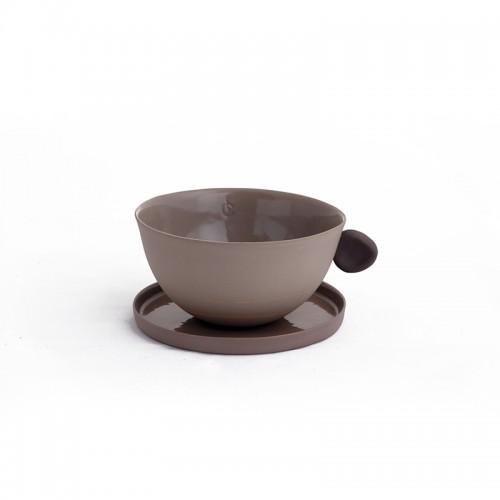 400.000 Years of Istanbul - Porcelain Teacup & Coffeecup Set - Brown