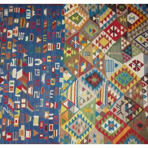 Mixed Design Kilim - Weaved by Berivan Yılmaz