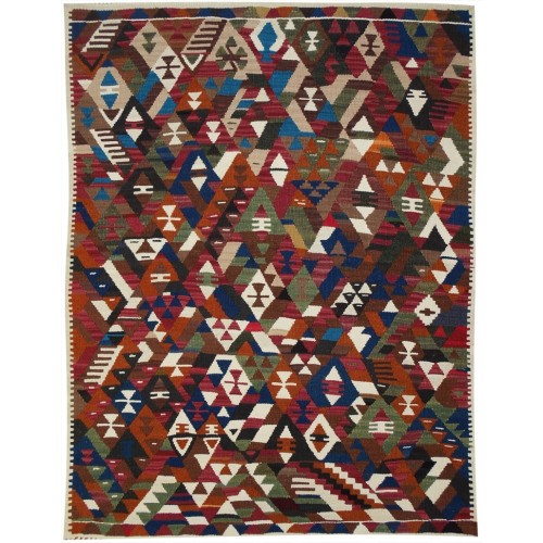 Tribal Conflict Kilim - Weaved by Neslihan Tomay