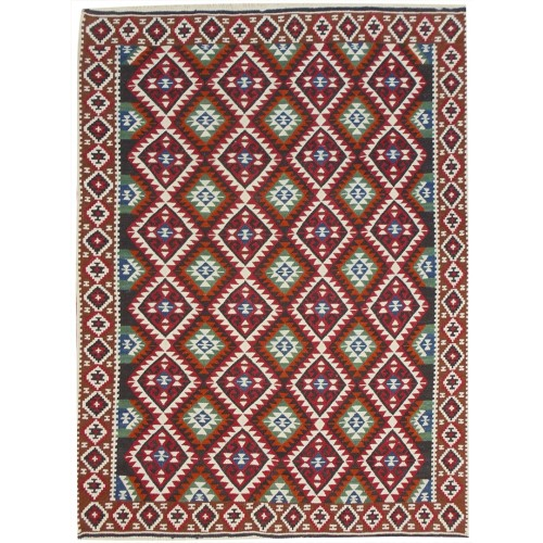 Bouquet of Flowers Kilim - Weaved by Şerbet İşnaz
