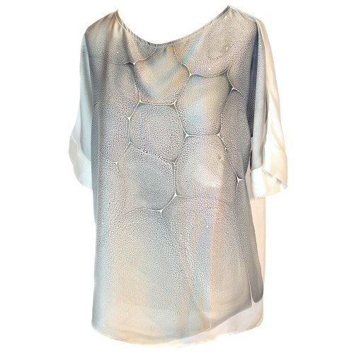 Marbling Satin Blouse - 1