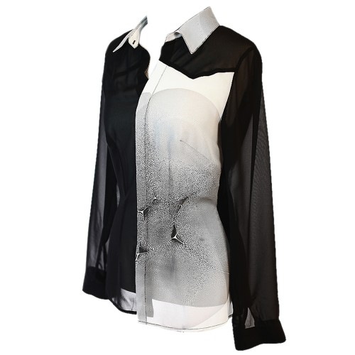 Marbling Chiffon Shirt - 1