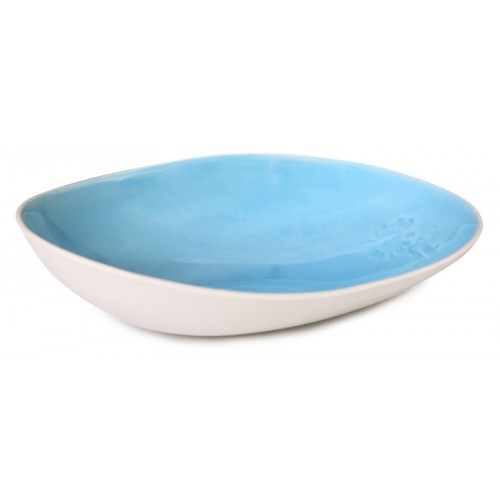 Blue Porcelain Oval Bowl - Assos