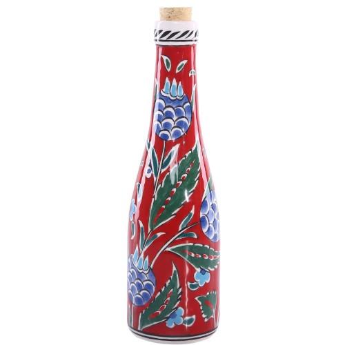 Pomegranate Pattern Ceramic Bottle