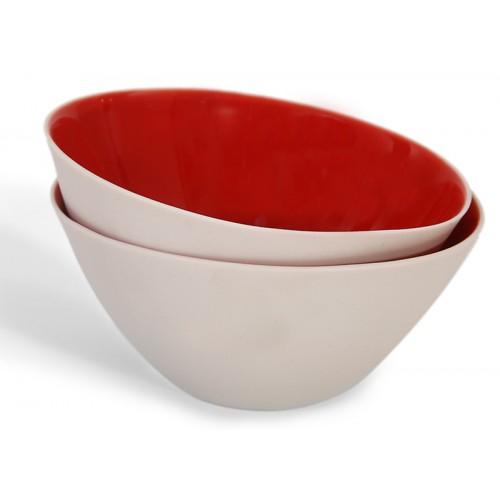 Red Porcelein Bowl - Nuts