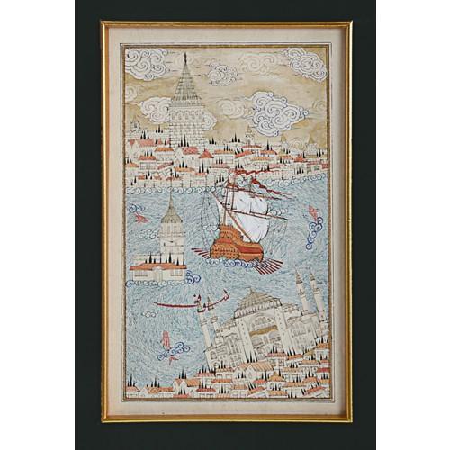 Galata Tower, Maiden's Tower and Hagia Sophia Miniature