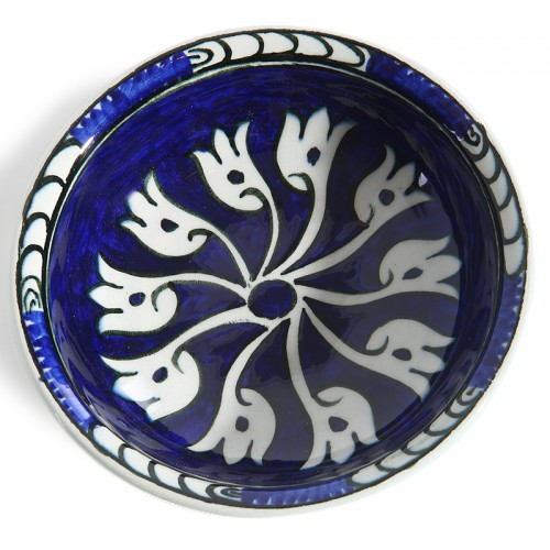 Cobalt Blue Ceramic Plate-2
