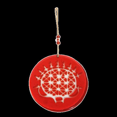Glass Hittite Sun Disk Wall Decoration
