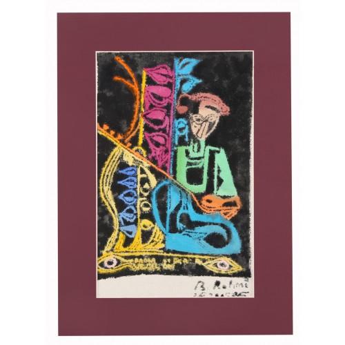 ''Aşık Veysel'' Passepartout Block Printing
