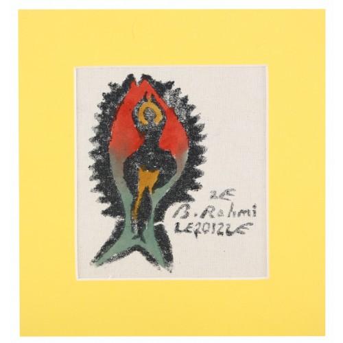 ''Tuna Fish'' Passepartout Block Printing
