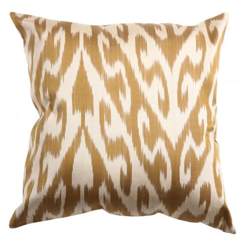 Silk Ikat Pillow Cover - Golden
