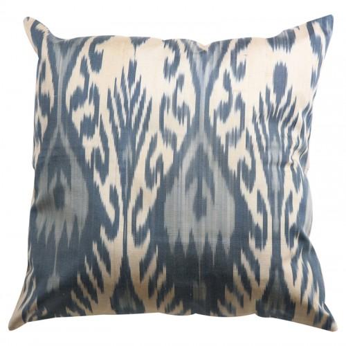 Silk Ikat Pillow Cover - Grey