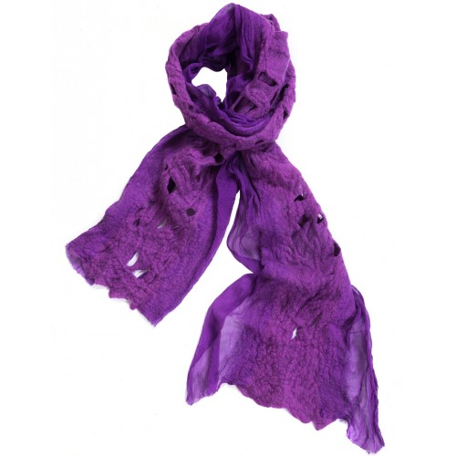 Purple Felt Scarf