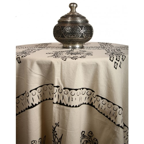 "Madder Table Cloth with ""Tokat"" Pattern"