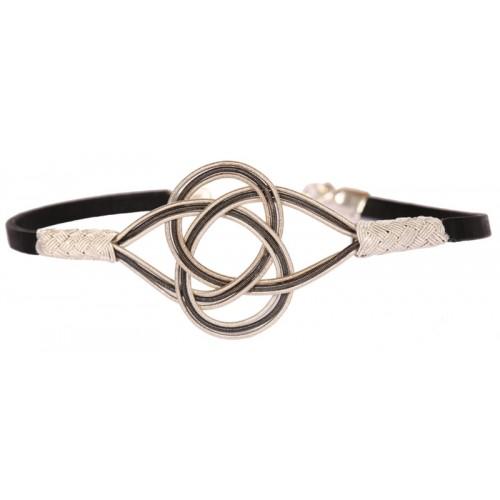 Kazaziye 'Love Knot' Silver Bracelet