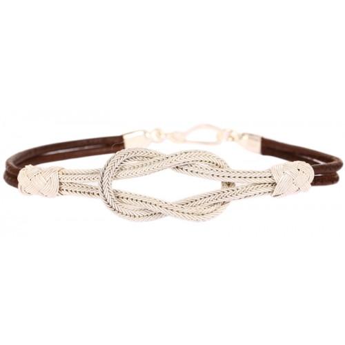 Kazaziye Knot Silver Bracelet