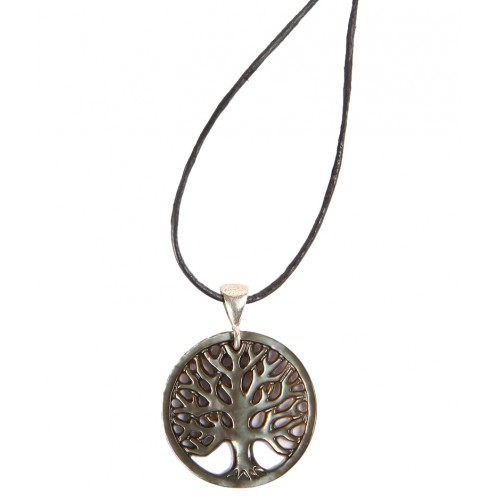 Tree of Life Abalone Mother of Pearl Necklace