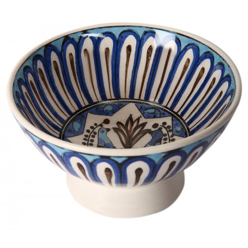 Seljuk Ceramic Bowl with Bird Patterns-1