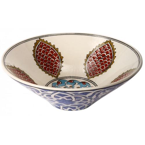 Iznik Porcelain Bowl with Star Transition Pattern