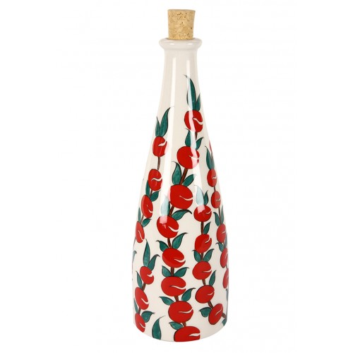 Apple Pattern Ceramic Bottle
