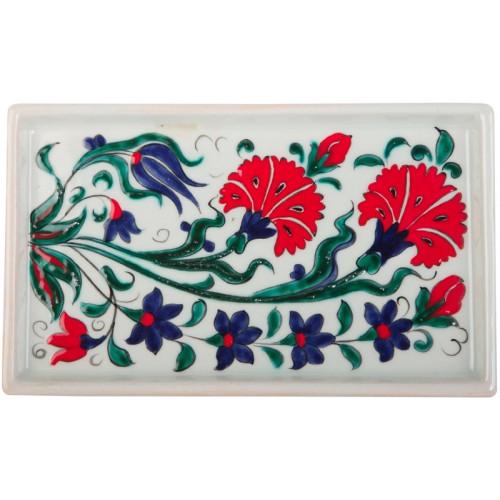 Carnation Iznik Ceramic Tray