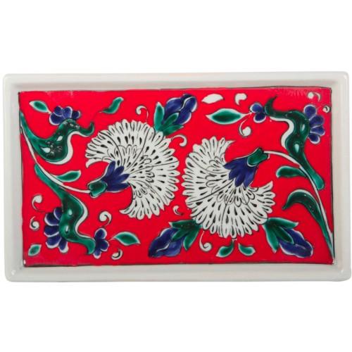 Red Iznik Ceramic Tray