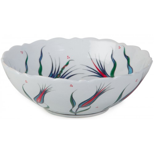 Nicea Porcelain Bowl with Istanbul Tulips