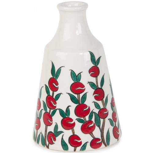 Apple Patterned Ceramics Bottle
