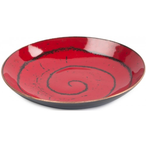 Red Enamel Plate