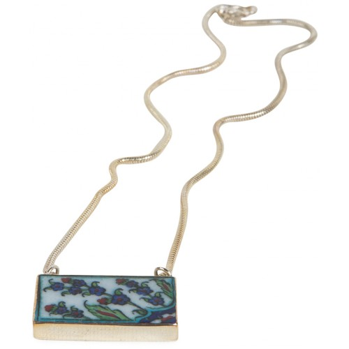 Blue İznik (Nicea) Quartz Silver Necklace