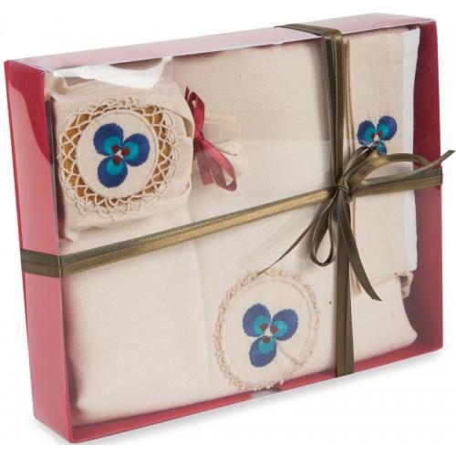Cintemani Ornamented Turkish Hamam Towel / Pestemal Set - Box