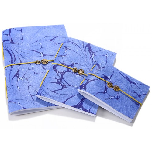 Blue Marbling Art Trio Notebook Set - 2