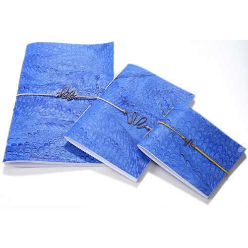 Blue Marbling Art Trio Notebook Set  - 1