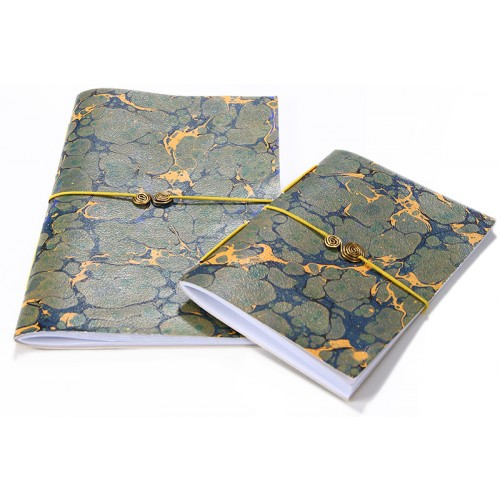 Green Marbling Art Notebook Set - 1