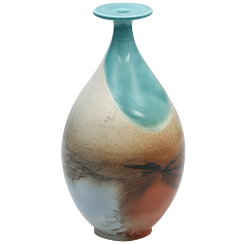 Turquoise Raku Vase 3
