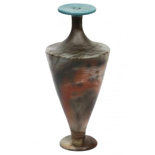 Turquoise Raku Vase 5