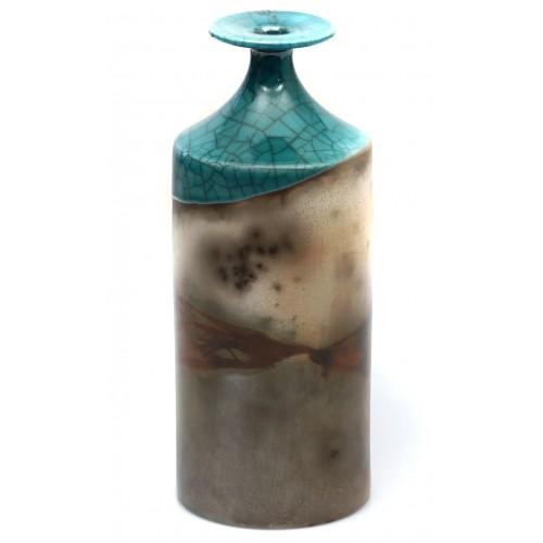 Turquoise Raku Vase 2