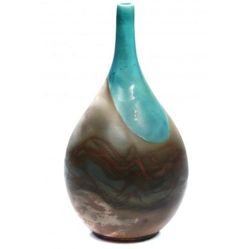 Turquoise Raku Vase 4