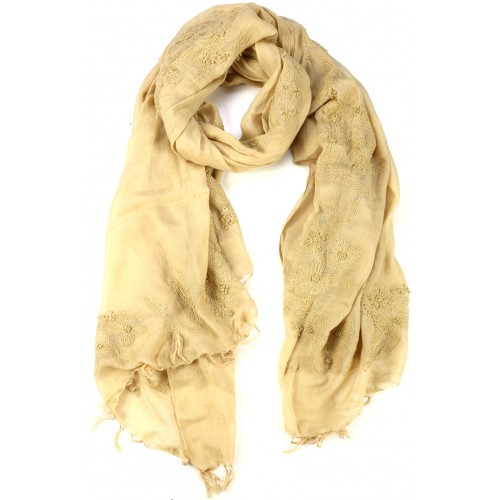 Yellow Silk Cotton Wrap