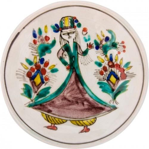 Kütahya Pretty Girls Ceramic Plate - Small Purple