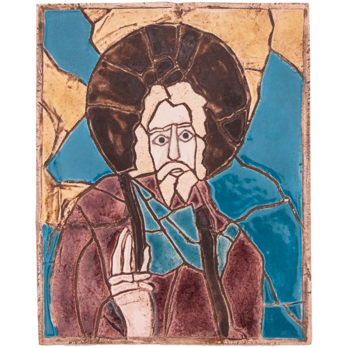 Byzantine Christ Mosaic Ceramic Panel