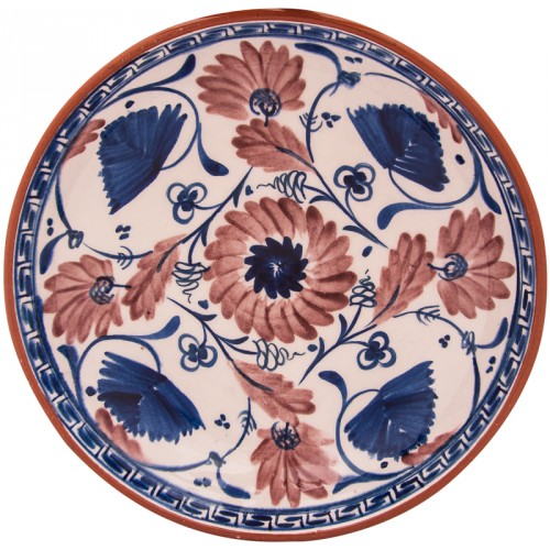 Miletus Flowered Ceramic Plate