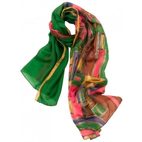 Old Istanbul Silk Scarf - Green